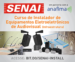 Curso ANAFIMA/SENAI de Instalador de Equipamentos Eletroeletrônicos de Audiovisual (Infraestrutura).